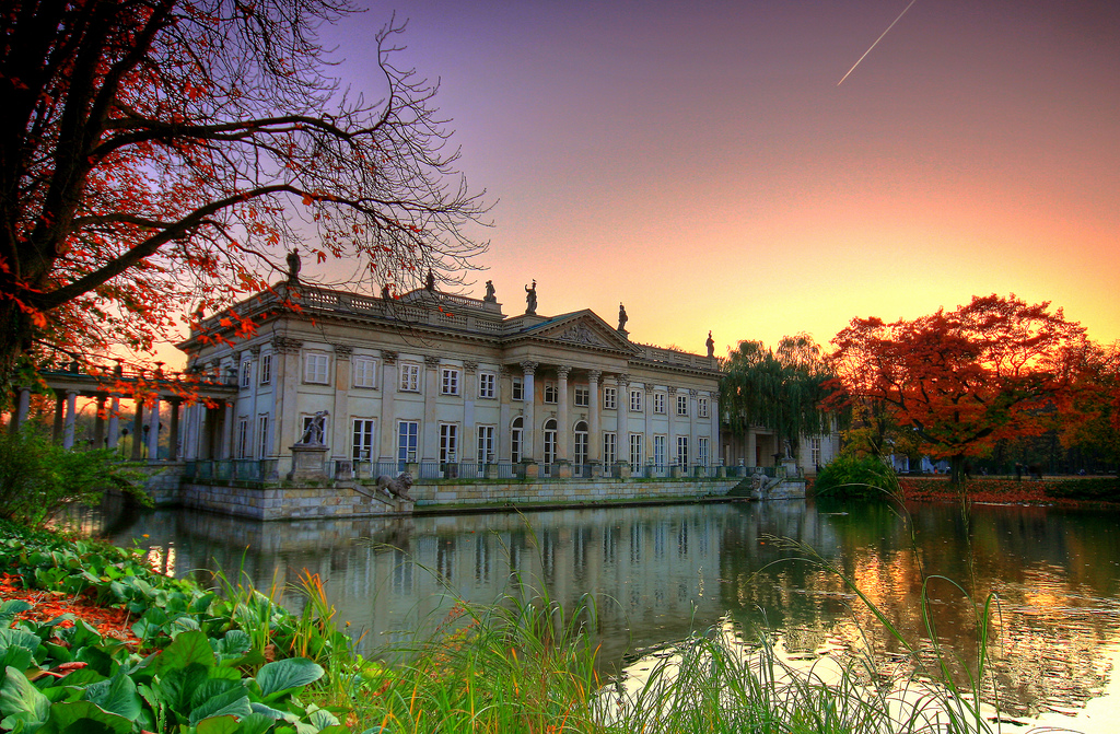 Palace on the Water in Lazienki Park, Warsaw, Poland.