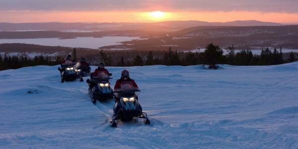 snowmobile safari finland