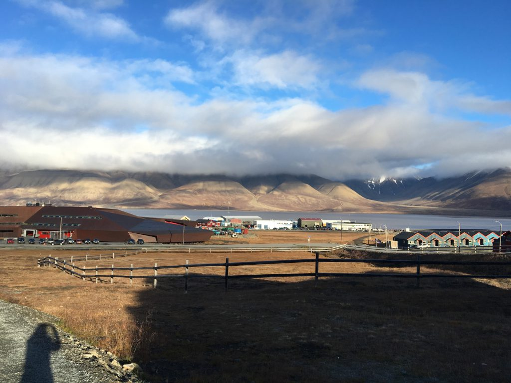 Clouds over Longyearbyen; the main town in the Svalbard Archipelago