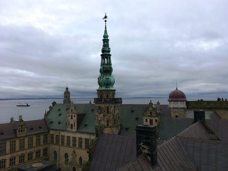 View over Oresund from Kronborg Castle