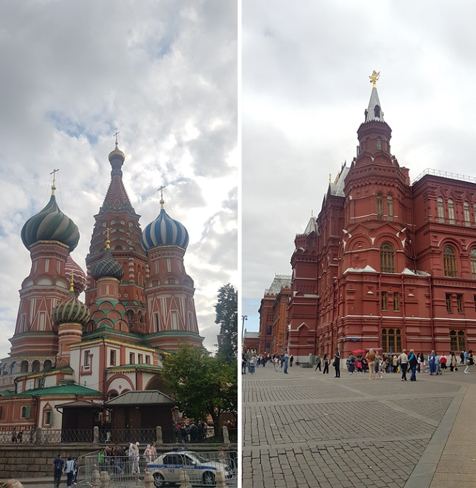 Saint Basil's Cathedral and State Historical Museum in Moscow