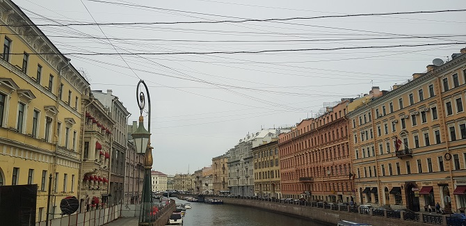 Classical architecture in St. Petersburg
