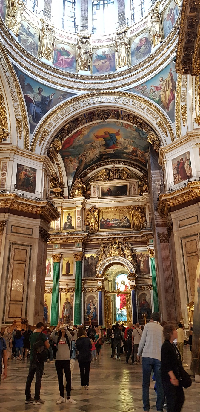 Inside the St. Isaac's Cathedral