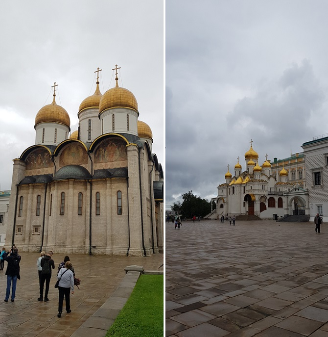 Dormition Cathderal and Annunciation Cathedral in Kremlin
