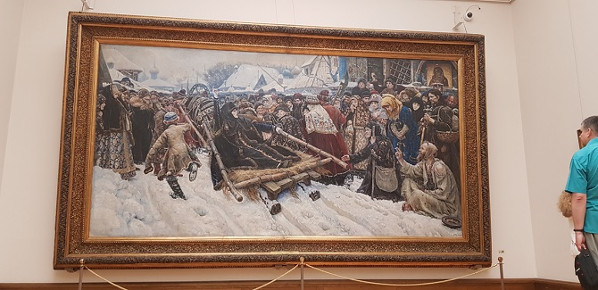 Painting in Tretiakov Gallery