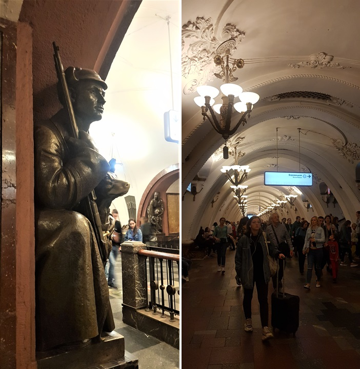 Inside the Moscow Metro system