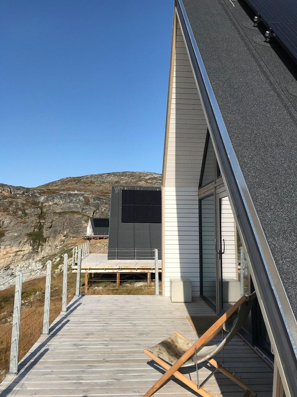 Terace at Ilimanaq Lodge