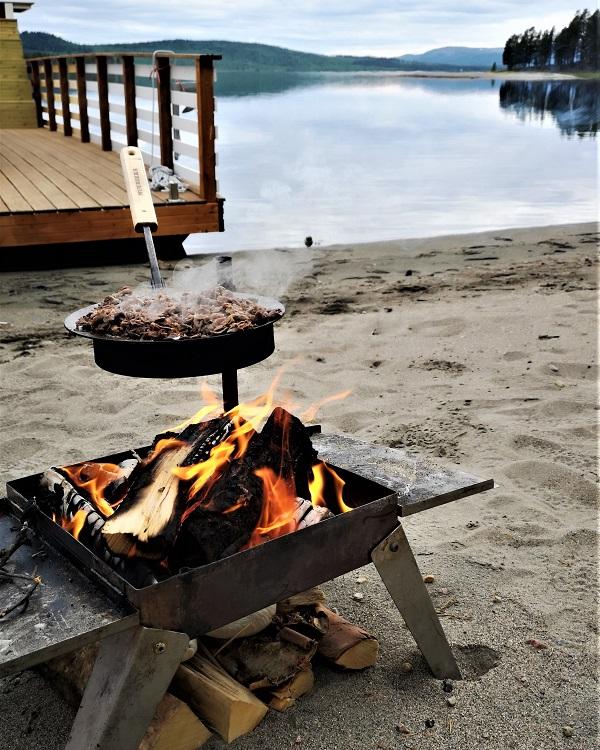 Outdoor dining in Sweden