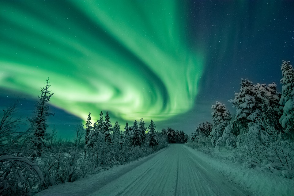 Northern Lights. Phto by Robert Jonasson.Swedish Lapland Visitors Board