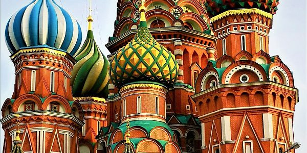 St Basils Cathedral on Red Square, Russia by DK